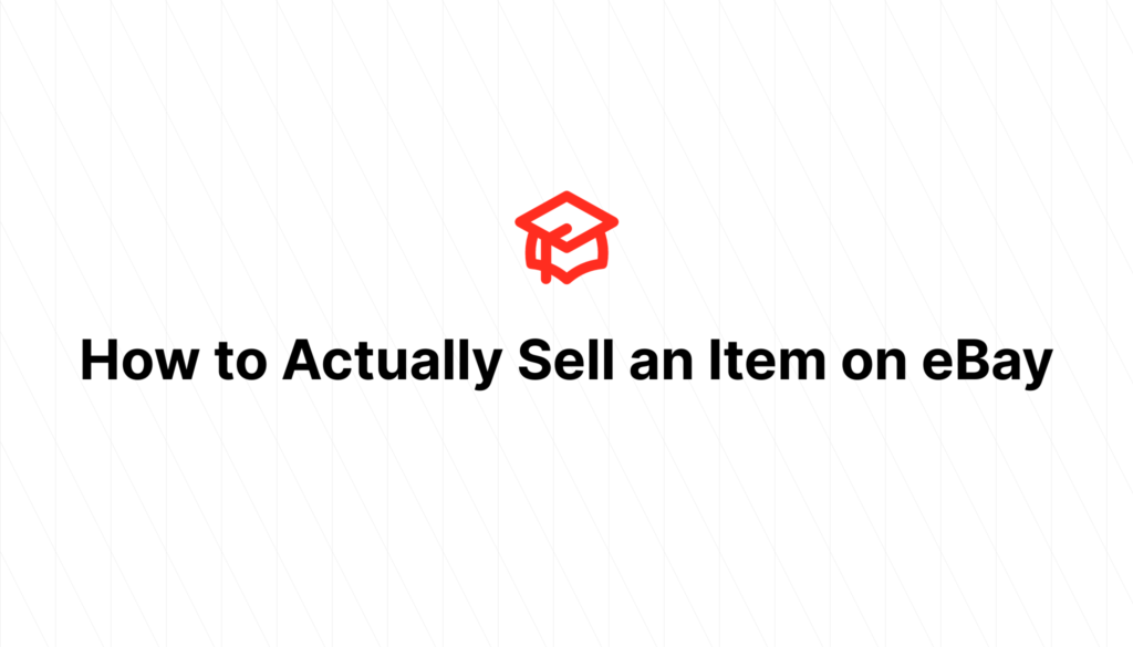 How to Actually Sell an Item on eBay